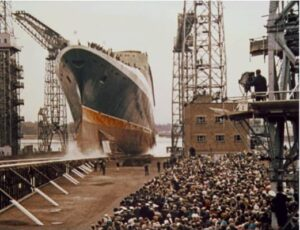 Her Majesty The Queen has just named and launched Queen Elizabeth 2 on 20 September 1967.