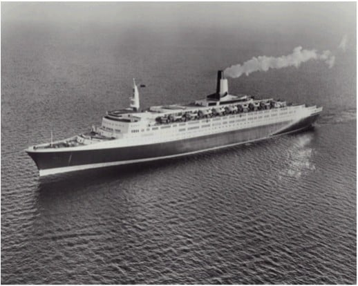 QE2 just before entering service in May 1969.