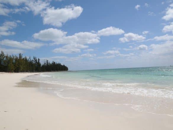 Large Beach area at the Bahamas Adventures Beach Club located in Freeport, Bahamas.