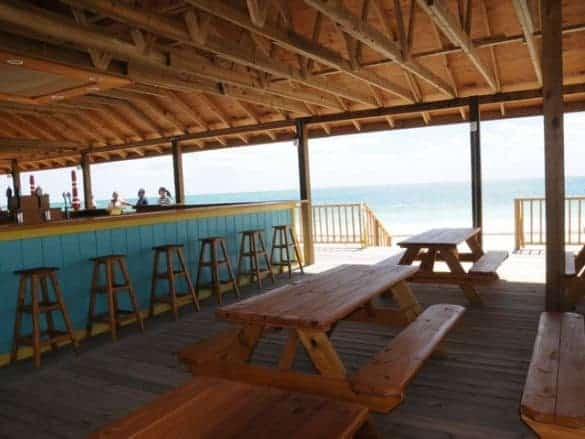 Listen to the music from the large bar and feel the ocean breeze while at the Bahamas Adventures Beach Club is located in Freeport, Bahamas.