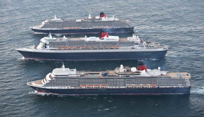 Cunard's Three Queens Celebrate