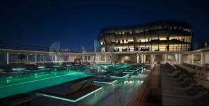 Main Pool view 2 night