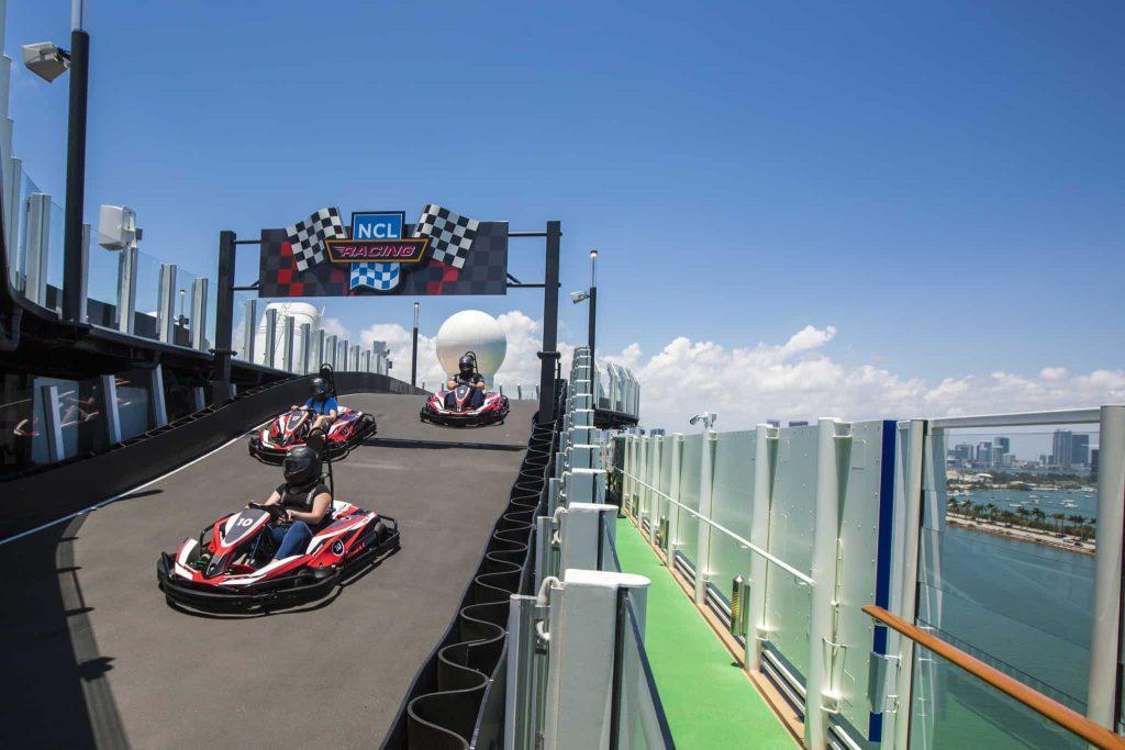 The Race Track aboard Norwegian Bliss