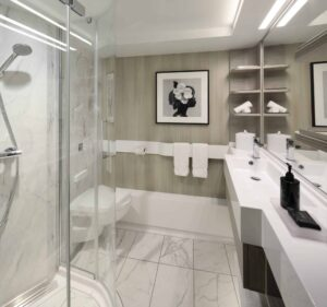 Stateroom Bathroom aboard Celebrity EDGE