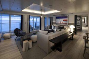 Penthouse Suite Cat. PS - Living room aboard Celebrity EDGE