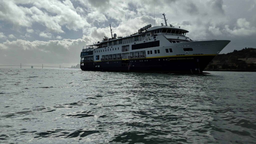 National Geographic Venture off Angel Island in San Francisco Bay