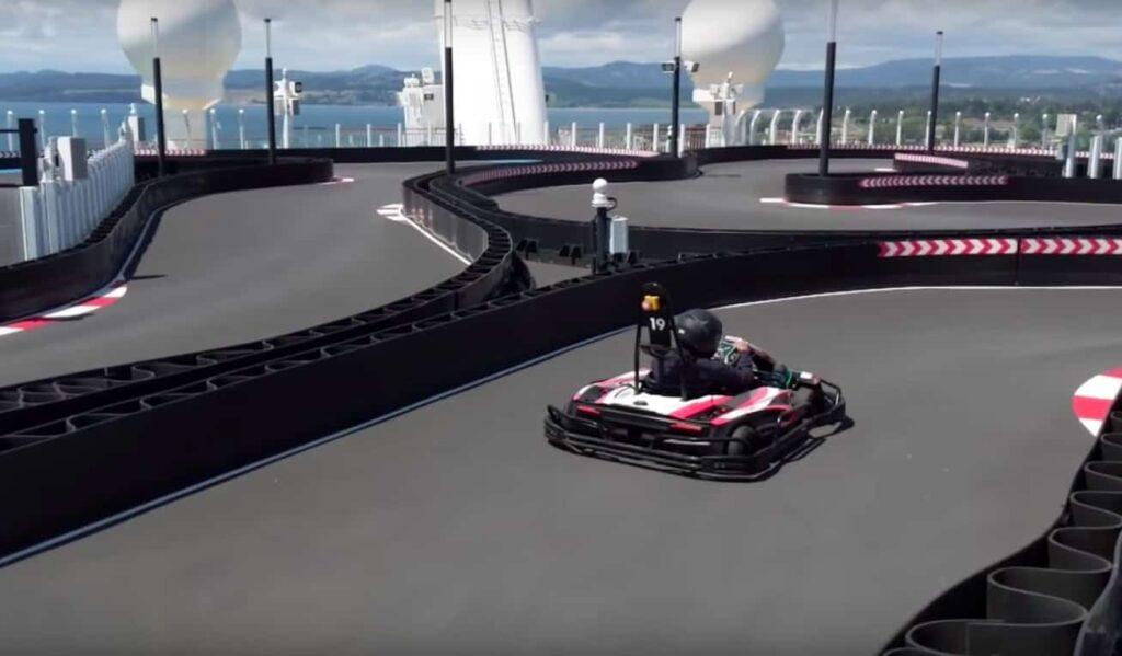 Go-kart track on Norwegian Bliss