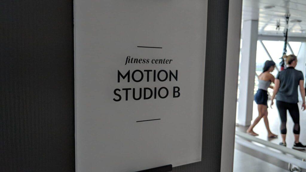 Celebrity Edge fitness center