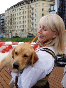 Karine Hagen with Finse