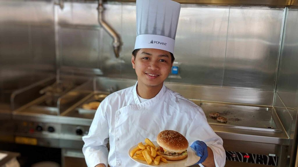 Grill chef on Le Laperouse