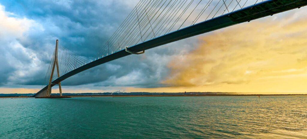 Normandy Bridge in Honfleur