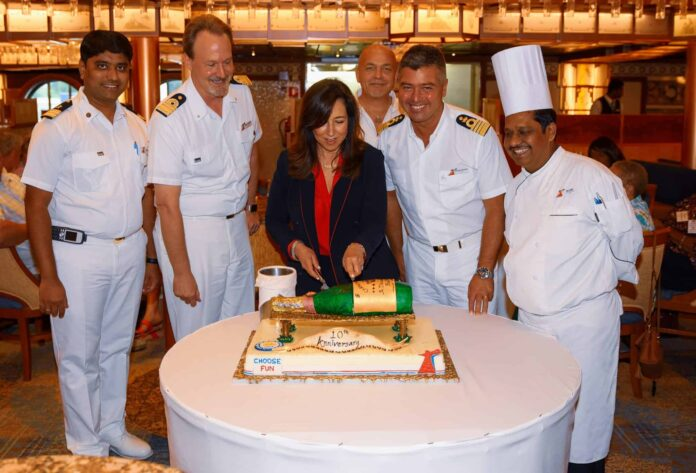 "Carnival Cruise Line Celebrates ""Decade of fun"" at Port of Baltimore 
