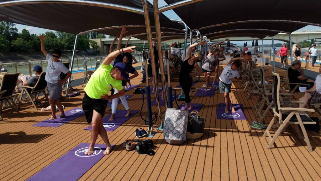 The fitness-focused river cruise programs offer a range of exercise classes during each sailing.