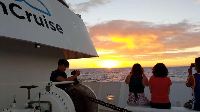 Sunset aboard UnCruise Adventures.