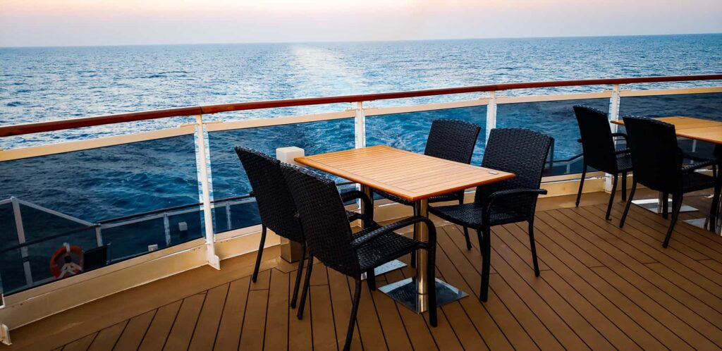 MSC Seaside open deck views