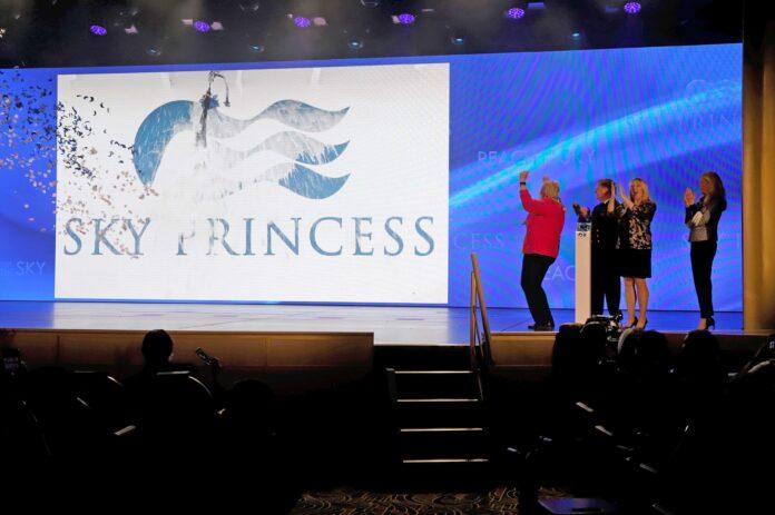 Sky Princess Naming Ceremony