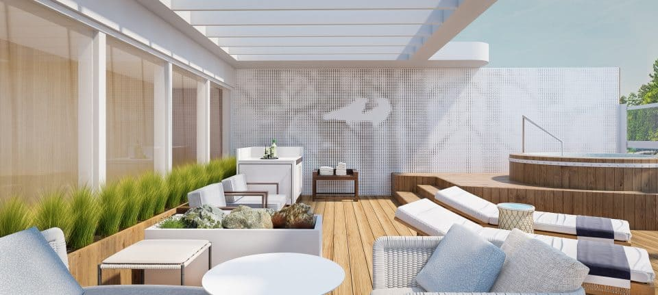 Rendering of the Owners' Suite on-board the Viking Expedition ship. (Credit: Viking)