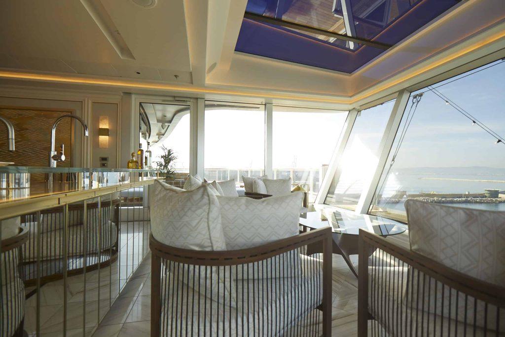 The Observation Lounge aboard The Regent Suite