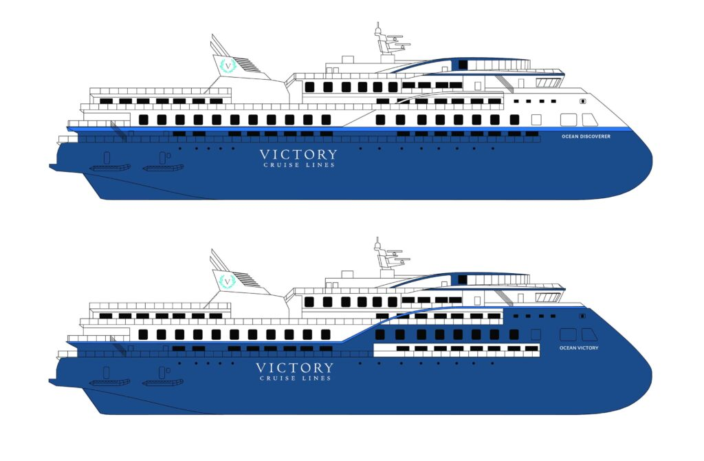 The 8,500-ton, 104.4-meter and 200-passengerOcean Discovererwill be identical to theOcean Victory