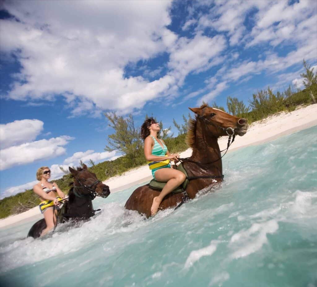 Half Moon Cay Bahamas Horseback Ride Excursion