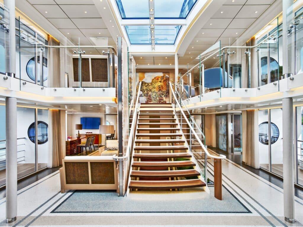 The Atrium Lobby aboard Viking Longship Kadlin