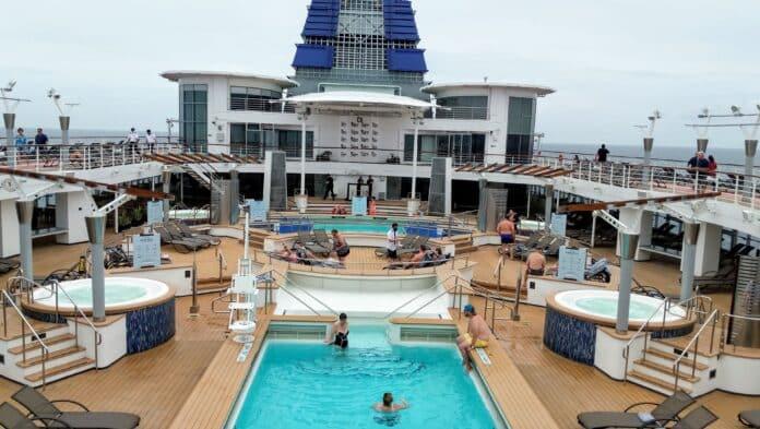 Celebrity Millennium's pool deck