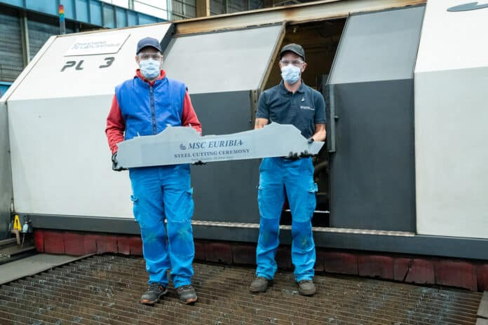 The first steel cut of MSC Euribia