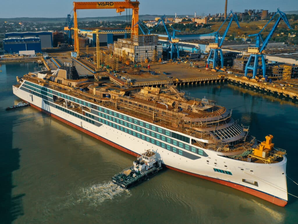 Viking Marks Float Out of Second Expedition Ship, Viking Polaris   26